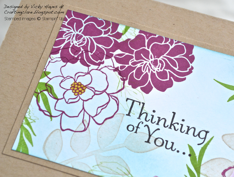 Sentiment stamped with Hopeful Thoughts from Stampin' Up