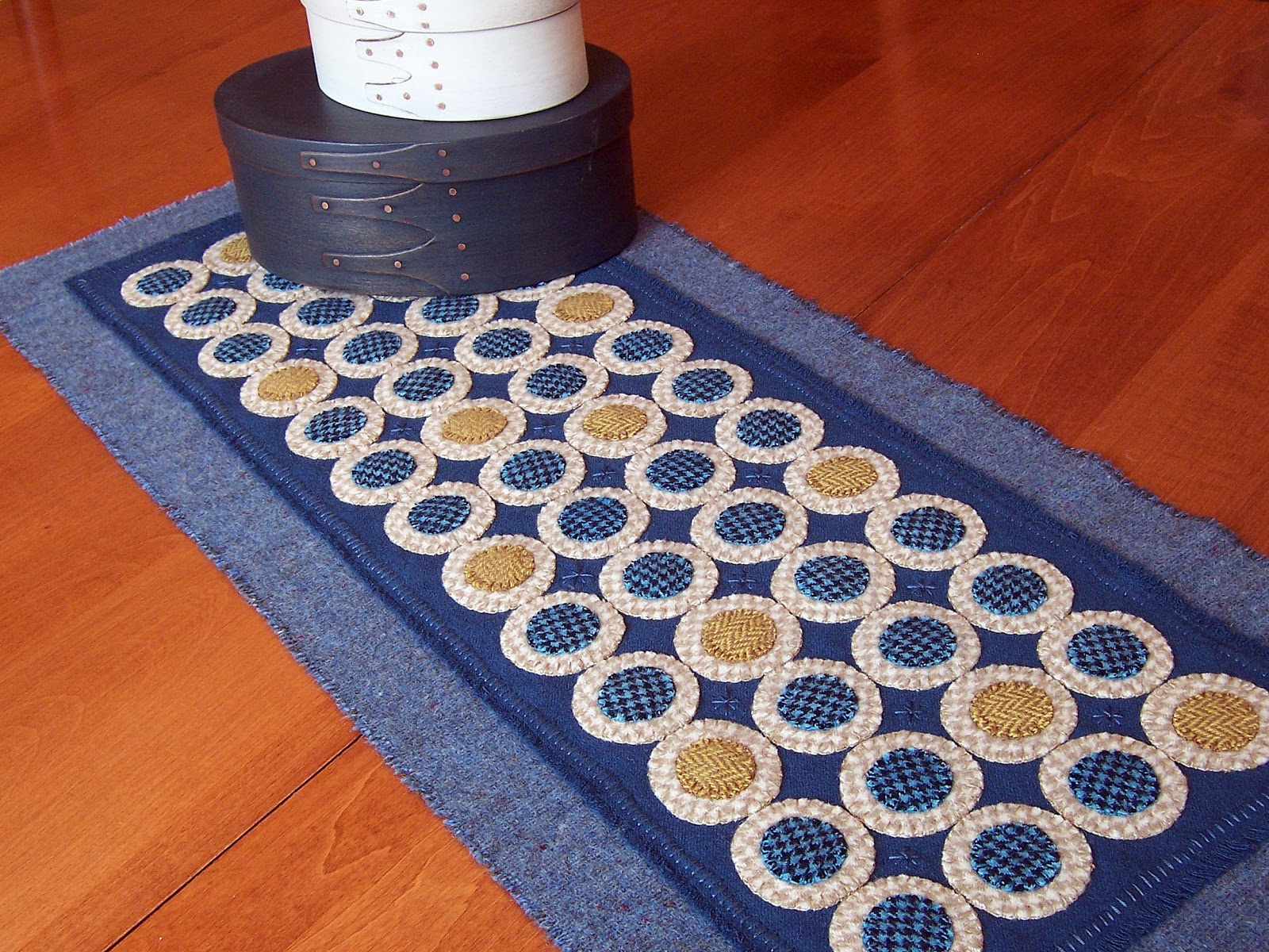 penny rug table runners
