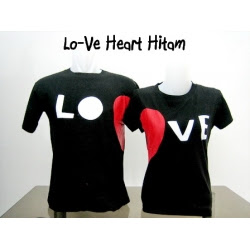 love heart hitam
