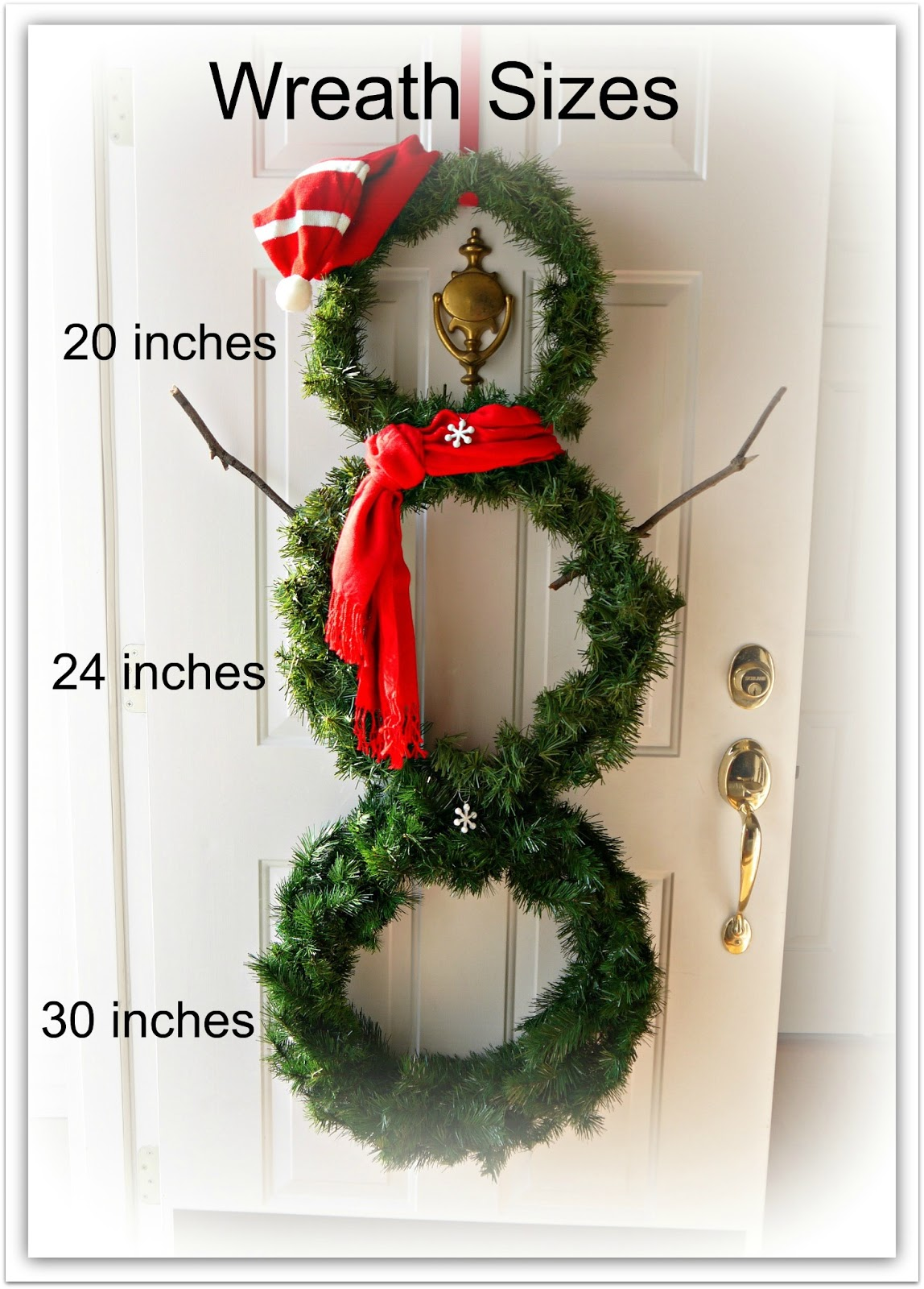 Diy versatile snowman wreath for winter decor sweet for Where can i find christmas decorations