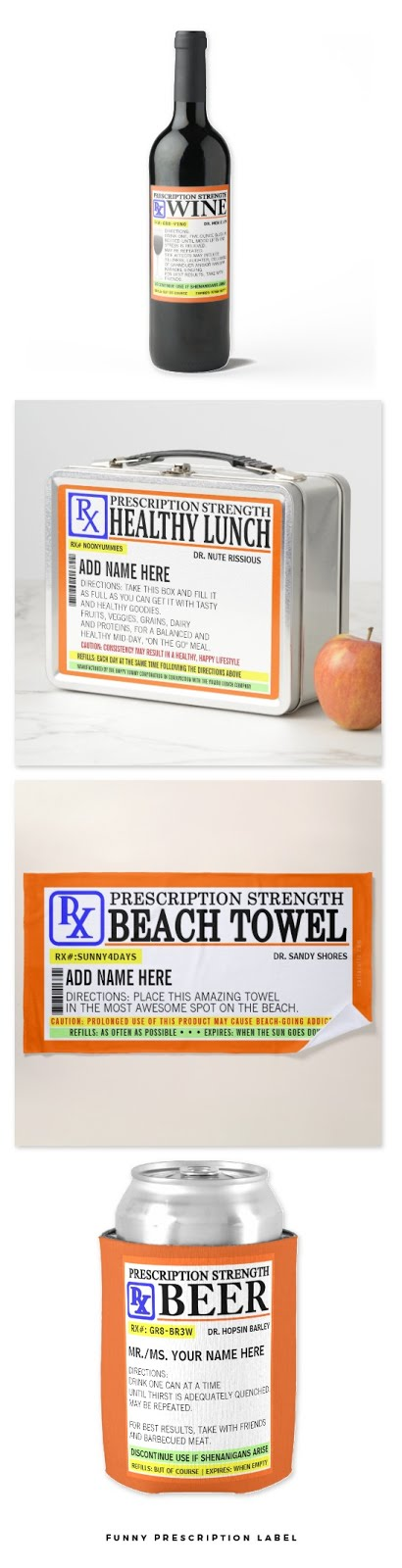 Funny Prescription Label Gifts