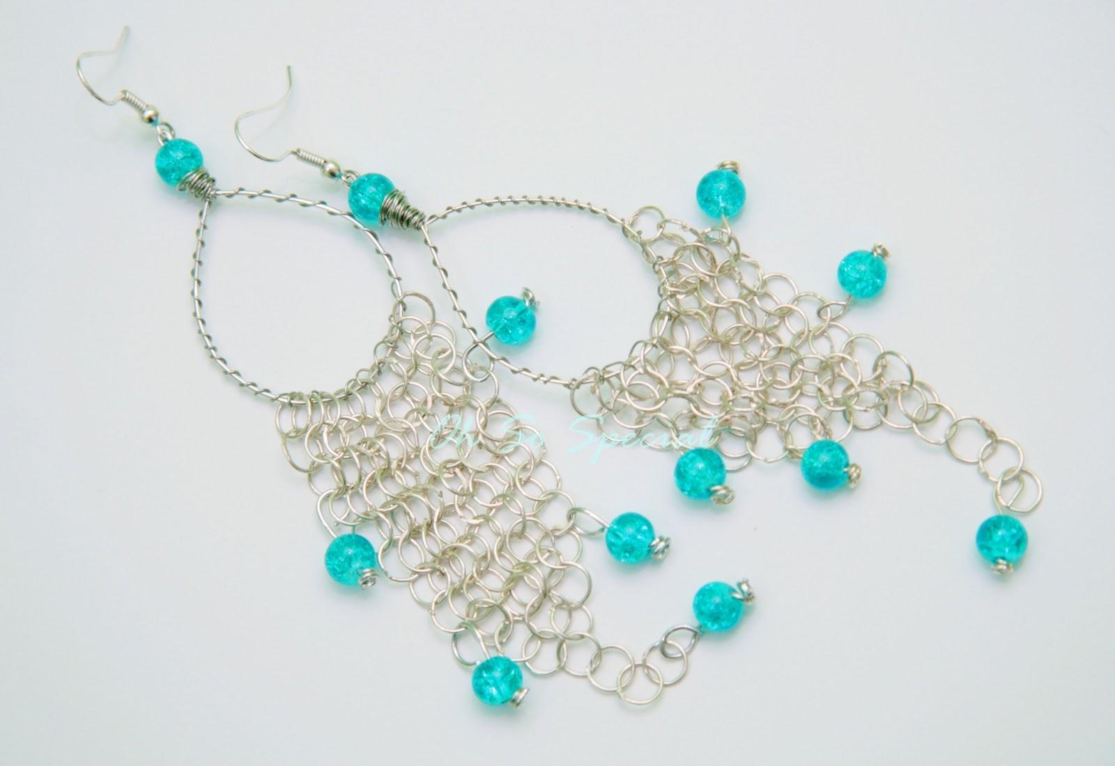 Kolczyki handmade z morskimi koralikami