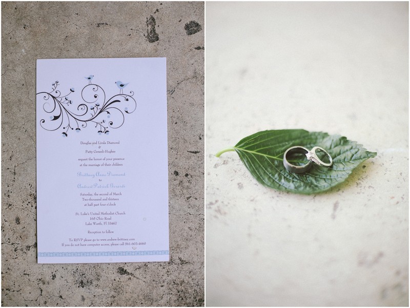 blue wedding invitation rings photo