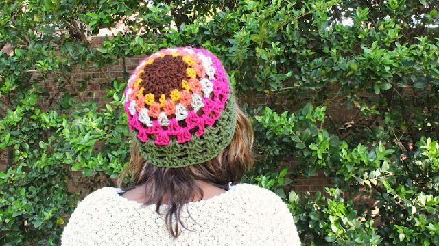 DIY: Free Crochet Pattern // Multi-Colored Crochet Hat.