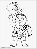 gambar mewarnai tahun baru untuk anak