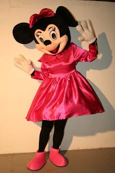 Mascote Minnie Rosa