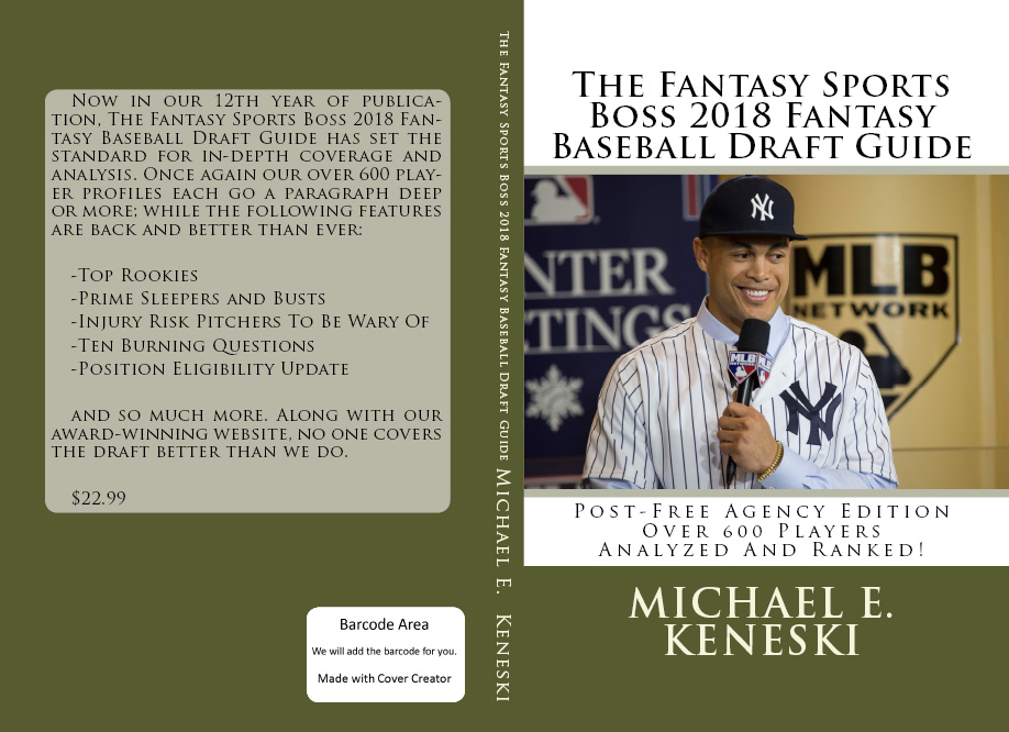 SUBSCRIBE TO THE FANTASY SPORTS BOSS 3 ANNUAL DRAFT GUIDE FOR JUST $49.99 ( SAVINGS OF $25.00)