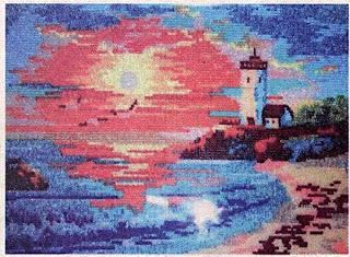 Вышивка бисером закат