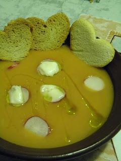 zuppa di crema di carote e gorgonzola