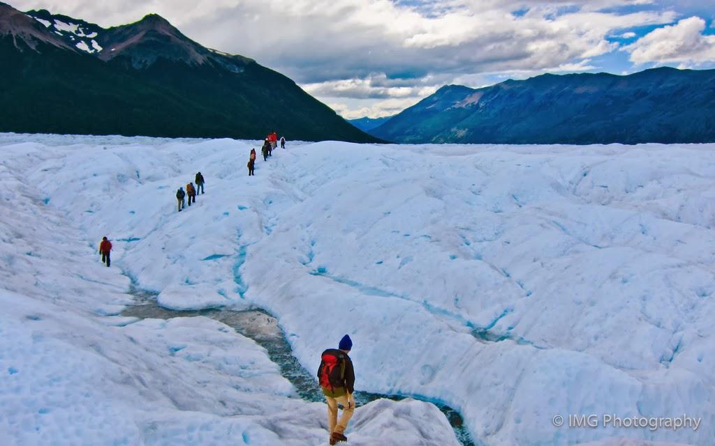 The trekking over the Perito Moreno Glacier