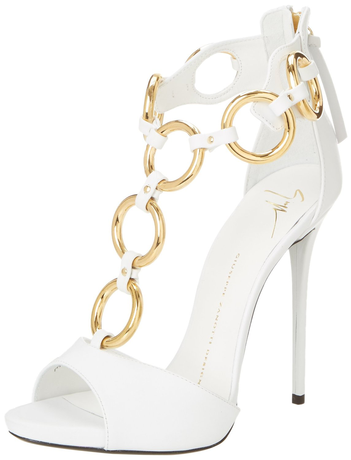 Elegant white and gold pump from Giuseppe Zanotti