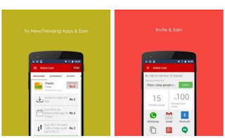 Mobile Cash: Latest Android Free Recharge Giving APP [ Rs 20 per referral + RS 1 everyday]