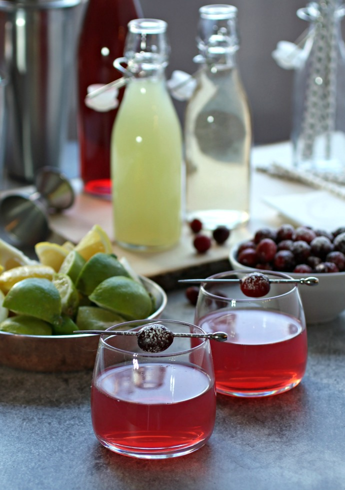 Cranberry Collins and a DIY Cranberry Cocktail Party