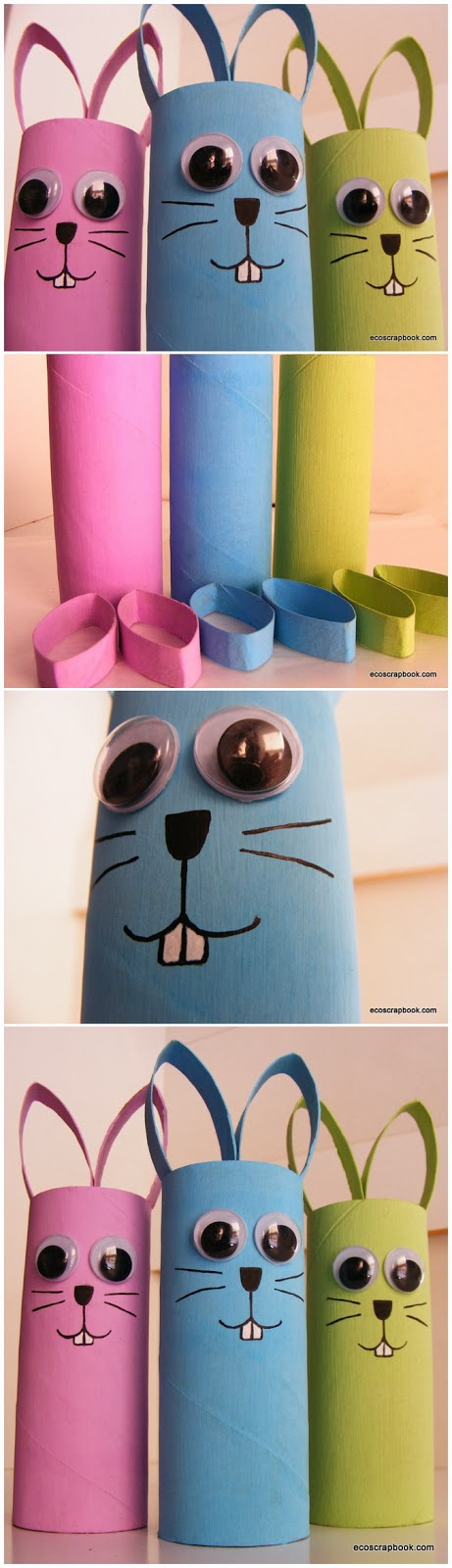 Toilet Paper Roll Bunnies Craft for Kids