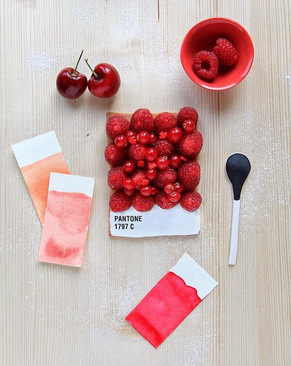 {Food} Pantone tarts by Emilie de Griottes