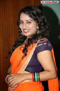 Actress Vyjayanthi  Pictures in Saree at Jamaai Movie Audio Launch  0009.jpg