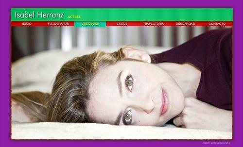 ver web de la actriz Isabel Herranz