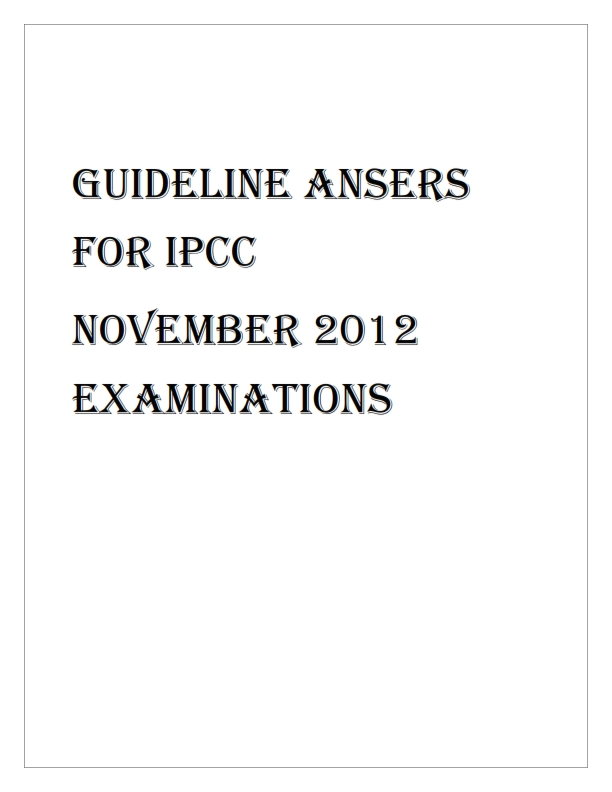 suggested answers for ipcc may 2012 download