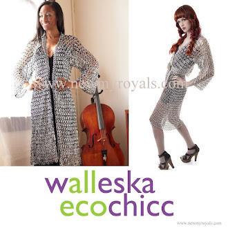 Princess Laurentien style Walleska Ecochicc Recycled Pull-Tab Kimono