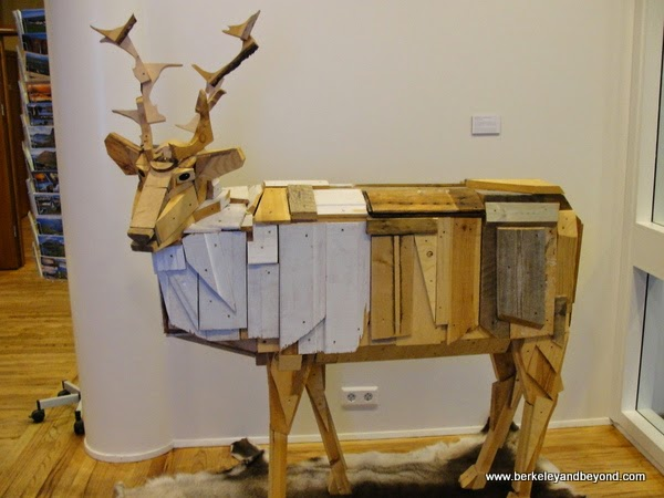 reindeer art at Hotel Herad in Egilsstadir, Iceland
