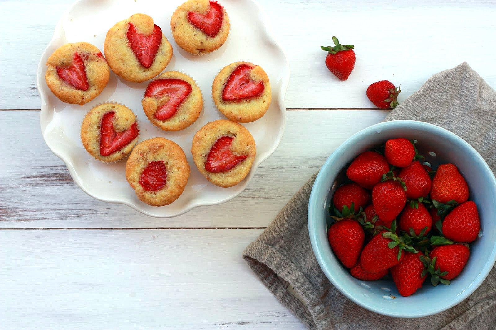 Yummy Mummy Kitchen: Strawberry Almond Olive Oil Muffins