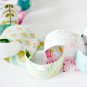 Pretty hand made paper chain garland by Torie Jayne