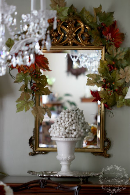 IIn the Dining room...Fall Home Tour 2015 ~ DWELLINGS - The Heart of Your Home