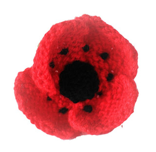 Hand Knitted Poppy - Poppy Appeal 2012