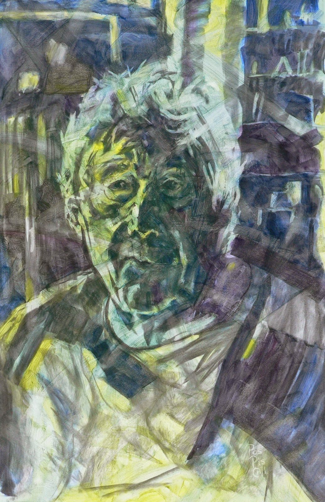 Mick Pospischil\'s Art: Painting Tim Page