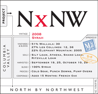 Wine label for North by North West Wine