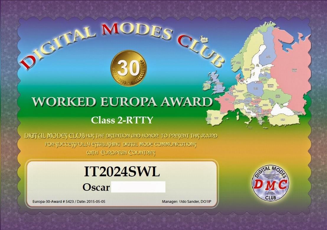 DMC 30 EUROPA CLASS 2 - RTTY