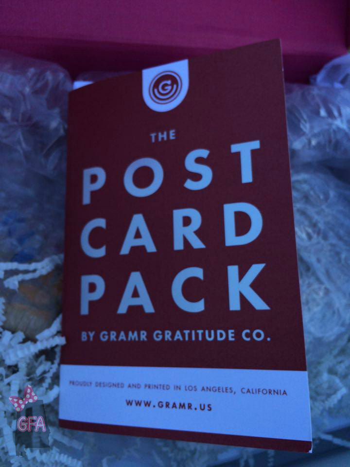 November 2015 the girl from alabama gramr gratitude exclusive thanksgiving postcard pack these are amazing and the box also includes a coupon code for 15 off a gramr subscription fandeluxe