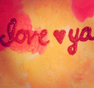 glitter watercolor DIY valentine card