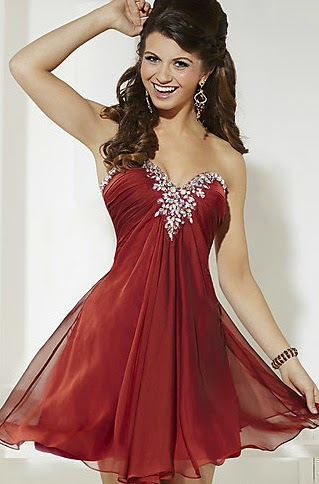 Vestidos de Fiesta, Color Rojo