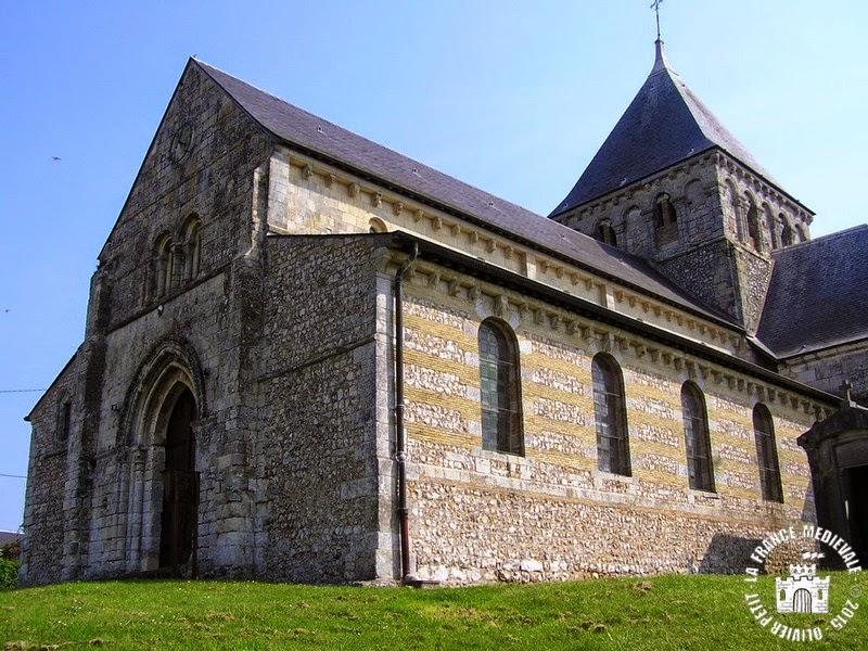 La france medievale maneglise 76 eglise saint germain for Eglise romane exterieur