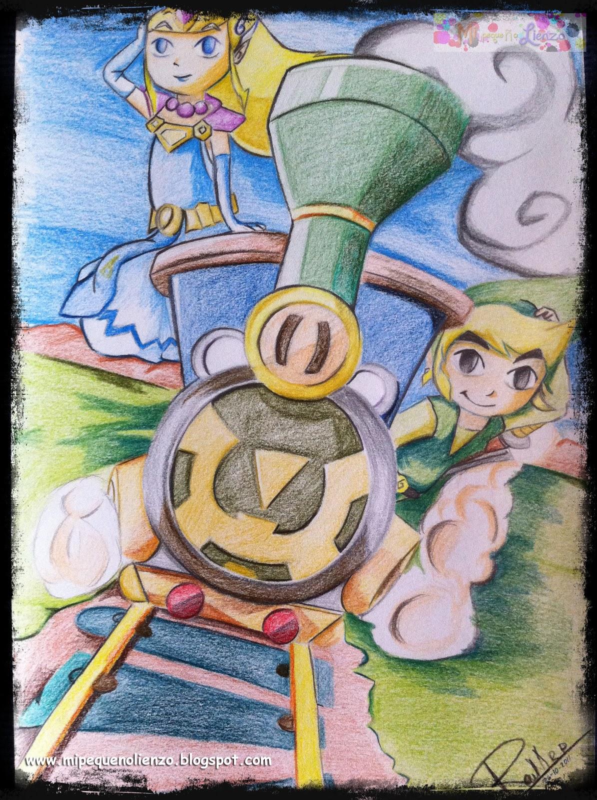 Mi pequeño lienzo: Zelda Spirit Tracks