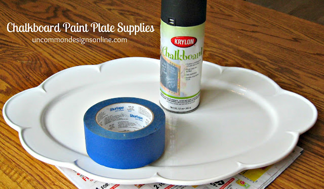 Chalkboard painted plate for Pot painting materials required
