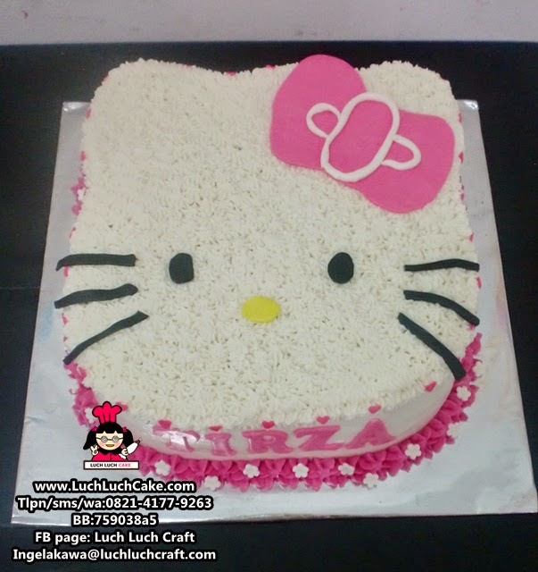 Kue Tart Hello 3D Kepala Kitty Pink Daerah Surabaya - Sidoarjo
