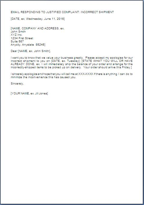 Business Apology Letter For Late Delivery