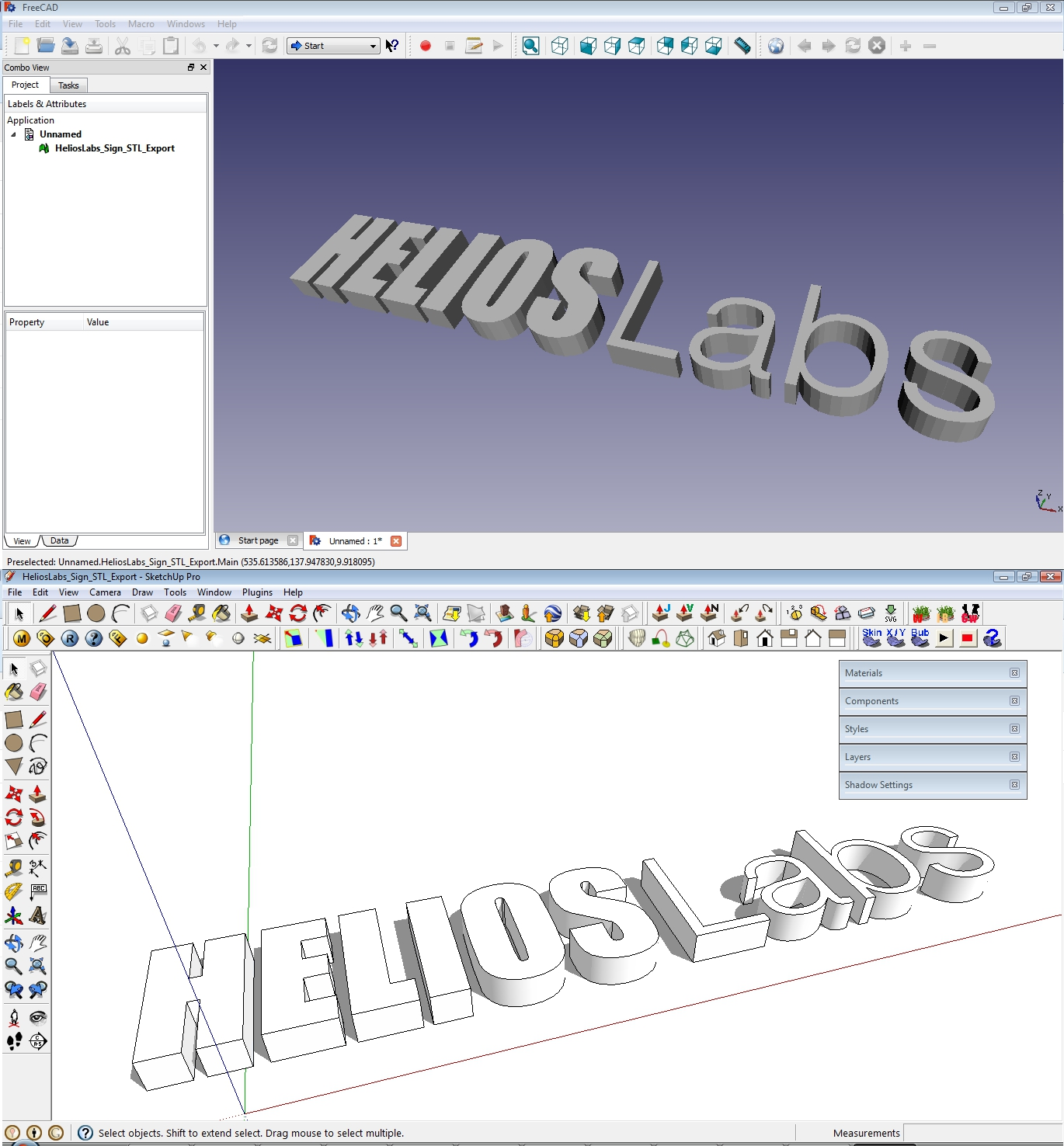 Helios labs sketchup 8 stl files for 3d printing File stl