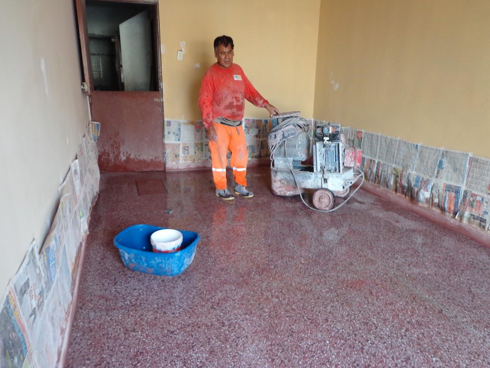 Mantenimiento pisos terrazo marmol reconstituido lima for Baldosas para garajes