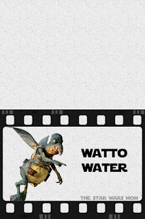 Star Wars Party Drink Label Watto Water Free Printable Sign