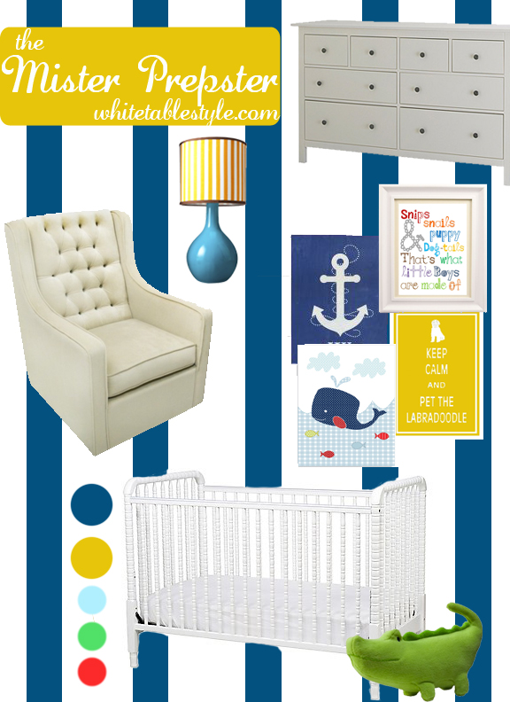Prepster nursery design board