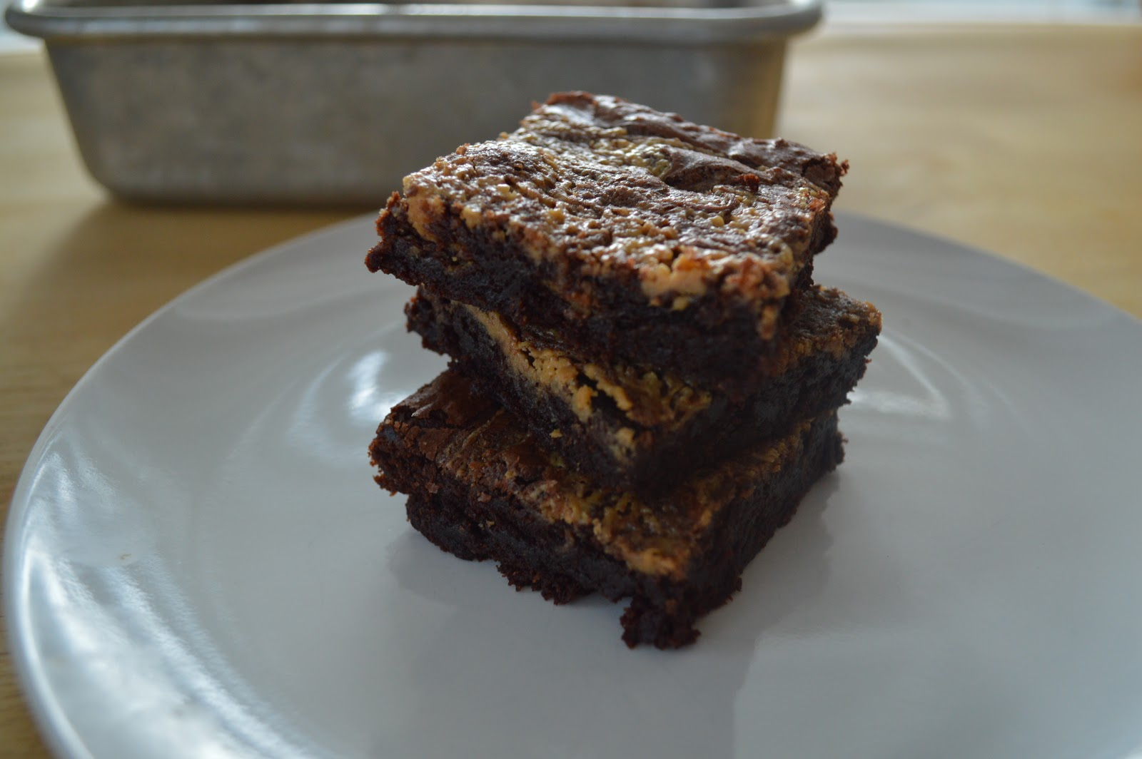 The Art of Comfort Baking: Peanut Butter Swirl Brownies