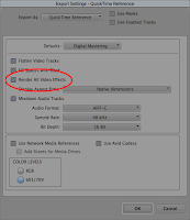 Render All Video Effects in the Avid Media Composer editing system.