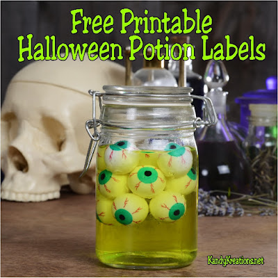 Decorate for Halloween with these free printable Halloween Potion labels.  Find 10 sites with awesome apothecary jar printable labels to help with your Witch's cabinet or Mad Scientist party.