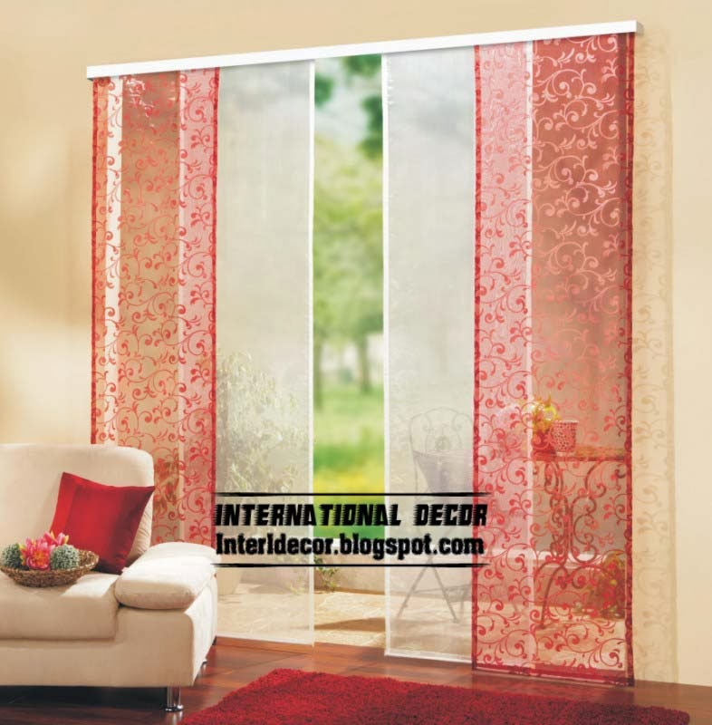 Elegant Japanese Curtains, Japanese Door Curtains, Red Curtain Panels