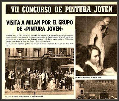 MILAN-VIAJE-PINTORES-CORTE INGLES-PREMIO-PINTURA-PINTOR-ERNEST DESCALS-