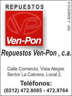 REPUESTOS VENPON, C.A. en Paginas Amarillas tu guia Comercial