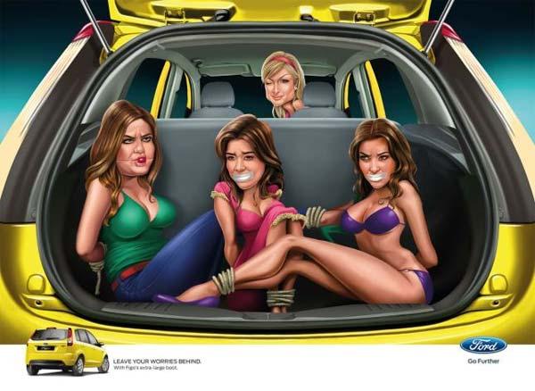 Ford publicidad Paris Hilton Kardashian